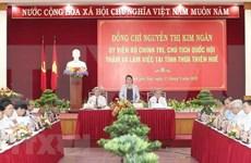 Visita presidenta del Parlamento a provincia vietnamita Thua Thien-Hue
