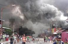 Hieren a tres policías durante disturbios en provincia indonesia de Papúa