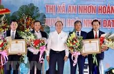 Premier vietnamita en ceremonia de reconocimiento de zonas rurales de nuevo estilo en Binh Dinh