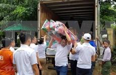 Comunidad vietnamita presta asistencia a afectados por inundaciones en Myanmar