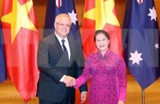 Presidenta de Asamblea Nacional de Vietnam se reúne con premier australiano