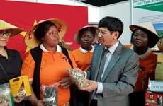 Productos vietnamitas caparan atención del público durante feria comercial en Mozambique