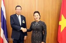 Presidenta legislativa se entrevista con titular del Senado tailandés
