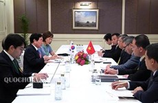 Reafirman legisladores vietnamitas importancia de lazos con parlamentos de Laos y Corea del Sur