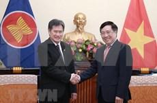 Recibe vicepremier vietnamita a secretario general de la ASEAN