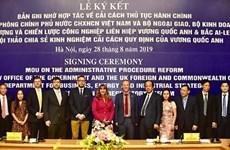 Vietnam y Reino Unido intensifican cooperación en reforma administrativa