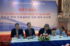 Impulsa Vietnam exportación de productos agropecuarios a Corea del Sur