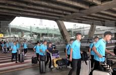 Selección de Vietnam llega a Tailandia para eliminatoria asiática del Mundial 2020