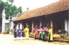 Promueve provincia vietnamita conservación del canto Trong Quan de la aldea Duc Bac
