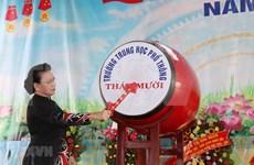 Exhorta presidenta del Parlamento de Vietnam a renovar la educación