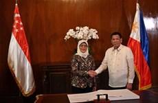 Amplían Filipinas y Singapur cooperación en defensa y economía