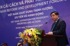 Debaten en Vietnam medidas para impulsar la Reforma y el Desarrollo nacional