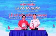 Entregarán un millón de banderas a pescadores vietnamitas