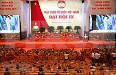 Clausuran noveno Congreso Nacional del Frente de la Patria de Vietnam