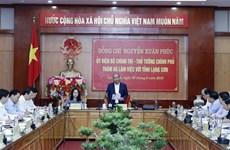 Premier vietnamita trabaja con las autoridades de provincia de Lang Son