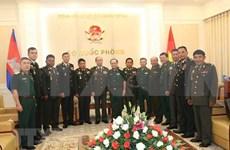 Robustecen Vietnam y Camboya vínculos en defensa