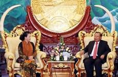 Concluye presidenta del Parlamento de Vietnam visita a Laos