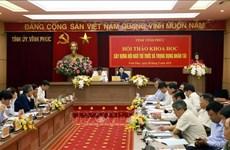 Provincia vietnamita de Vinh Phuc empeñada en respaldar a intelectuales