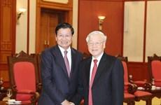 Recibe máximo dirigente de Vietnam al Premier de Laos