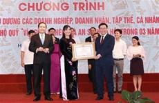 Reconocen aportes de colectivos y personas al fondo por los pobres en Vietnam