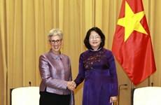 Aboga vicepresidenta de Vietnam por cooperación educativa con estado australiano