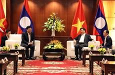 Visita premier de Laos ciudad vietnamita de Da Nang
