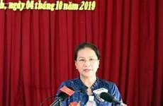 Contacta Presidenta del Parlamento de Vietnam con electores de Can Tho