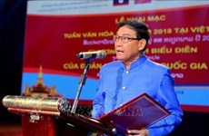 Marca exposición artística en Laos aniversario de la liberación de Hanoi