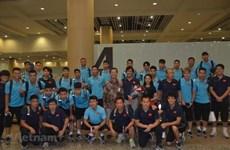 Llega selección de fútbol vietnamita a Indonesia