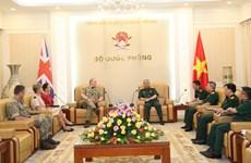Robustecen nexos entre Vietnam y Reino Unido en defensa