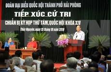Dialoga primer ministro de Vietnam con electores en la ciudad de Hai Phong