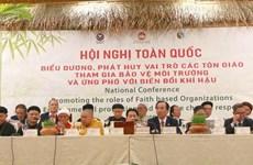 Reconocen papel de comunidades religiosas de Vietnam en enfrentamiento al cambio climático