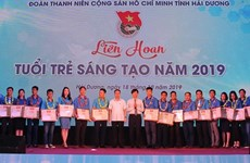 Honran en provincia vietnamita de Hai Duong creatividad de jóvenes