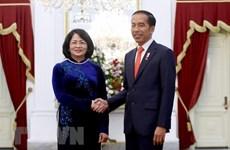 Asiste vicepresidenta de Vietnam al acto de asunción del presidente indonesio