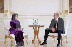 Vicepresidenta vietnamita se reúne con el jefe del Estado de Azerbaiyán