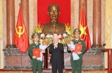 Promueven grado militar a subjefes de Dirección General de Política del Ejército Popular de Vietnam