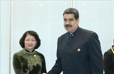Vicepresidenta de Vietnam se reúne con dirigentes de Venezuela y Corea del Norte al margen de MNOAL