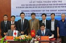 Ayuda Japón a Vietnam para mejorar control de seguridad alimentaria