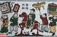 Presentan en Vietnam valiosa colección de centenarias pinturas folclóricas