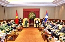 Se reúne máximo dirigente de Laos con exsoldados voluntarios vietnamitas