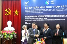 Proyectan Vietnam y Nueva Zelanda ampliar cooperación hidrometeorológica