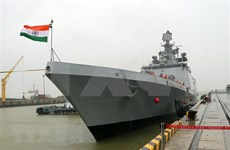 Visita buque naval de la India a ciudad vietnamita de Da Nang