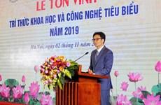 Enaltece Vietnam a intelectuales en ciencias y tecnologías