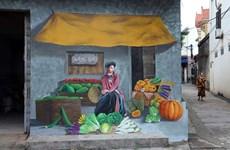 Atractiva aldea de pinturas murales de Chu Xa en Hanoi