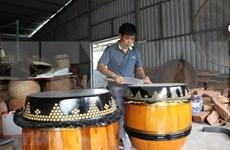 Preservan oficio de fabricación de tambores en la aldea vietnamita de Binh An