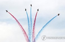 Corea del Sur efectúa ceremonia de bienvenida para celebración de Cumbre con ASEAN
