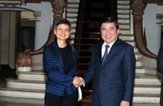 Intensifica Ciudad Ho Chi Minh cooperación con la provincia belga de Amberes