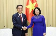 Aboga vicepresidenta de Vietnam por incrementar la cooperación con prefectura japonesa