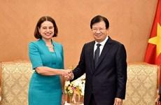 Mira Vietnam hacia intercambio comercial de 10 mil millones de dólares con Australia