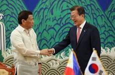 Acuerdan Corea del Sur y Filipinas impulsar libre comercio